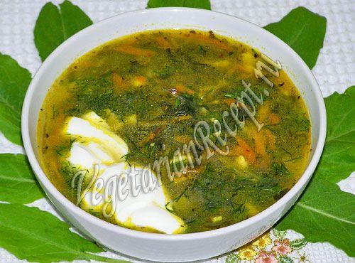 как приготовить суп из щавеля фото