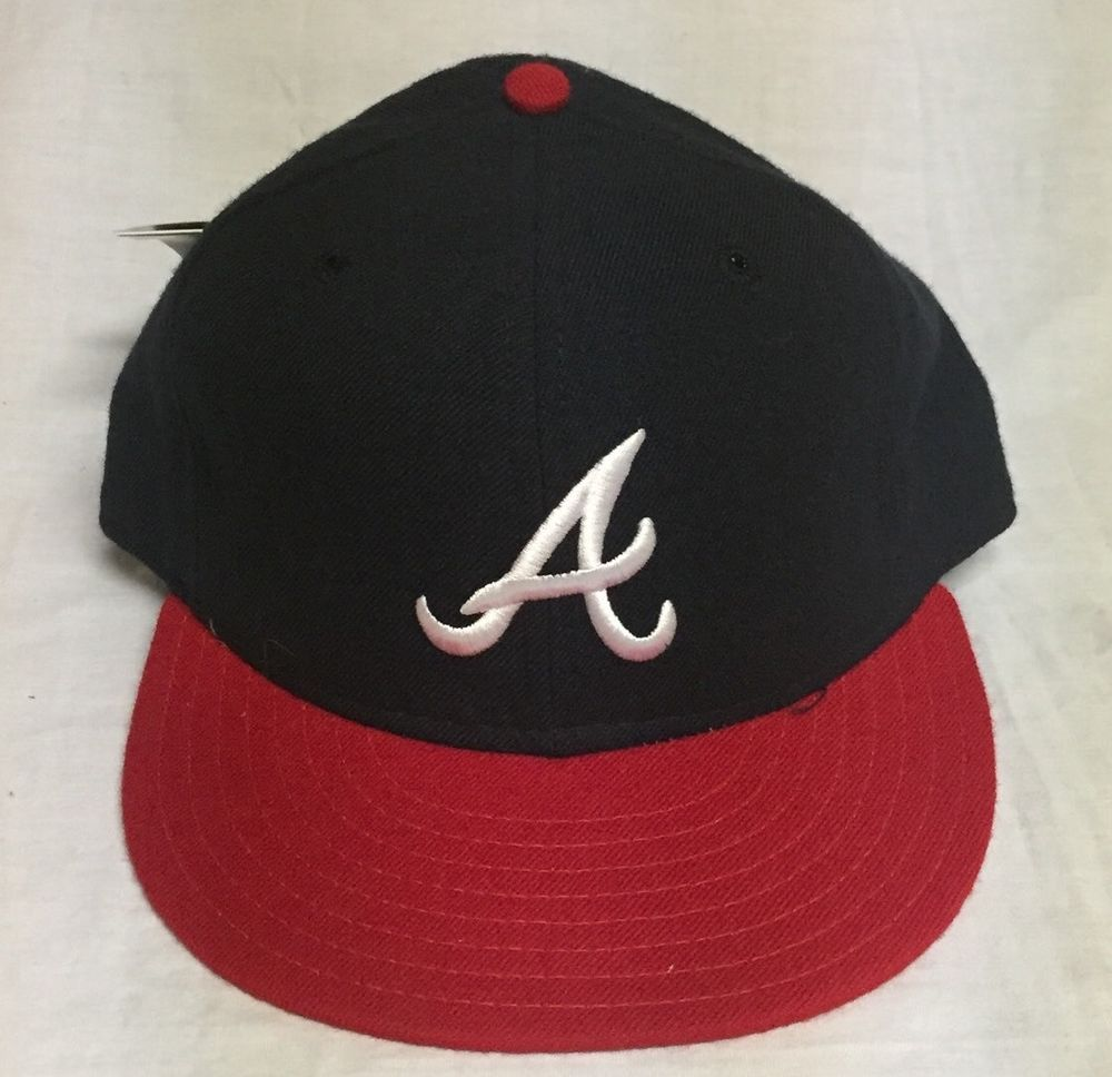Vintage Atlanta Braves Pro Model New Era Wool Fitted 7 1 8 Cap Hat New With Tags Atlanta Braves New Era Braves