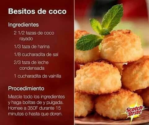 Besitos de coco galletas pinterest explore spanish food recipes spanish desserts and more forumfinder Image collections