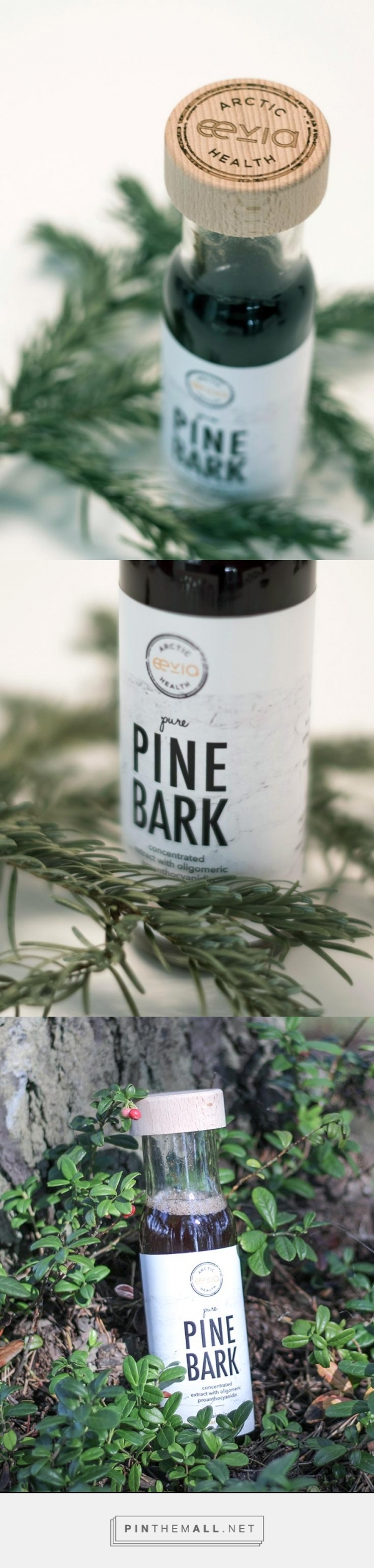 Packaging design - organic & healthy pine bark drink from Eevia