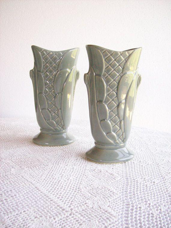 Vintage Vase Gray Shawnee Pottery Art Deco Home Decor One Vase