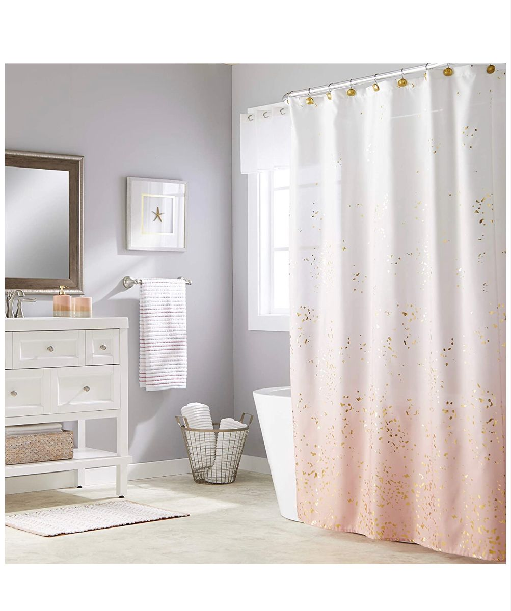 Shower Curtain Amazon In 2020 Pink Shower Curtains Fabric Shower Curtains Shower Curtain Decor