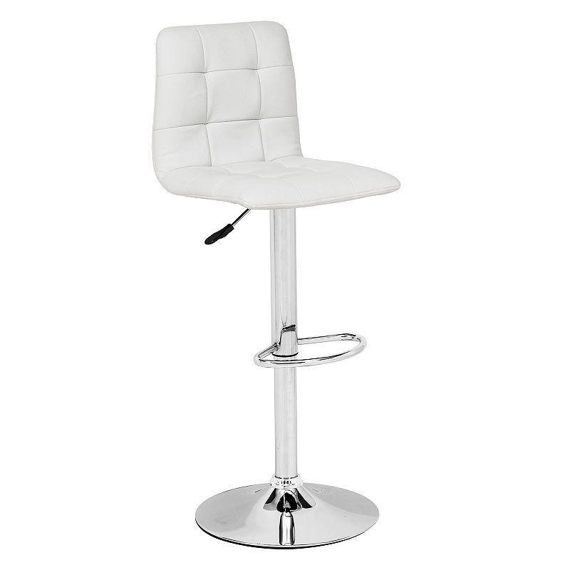 Zuo Modern 301351 Oxygen Barstool In White
