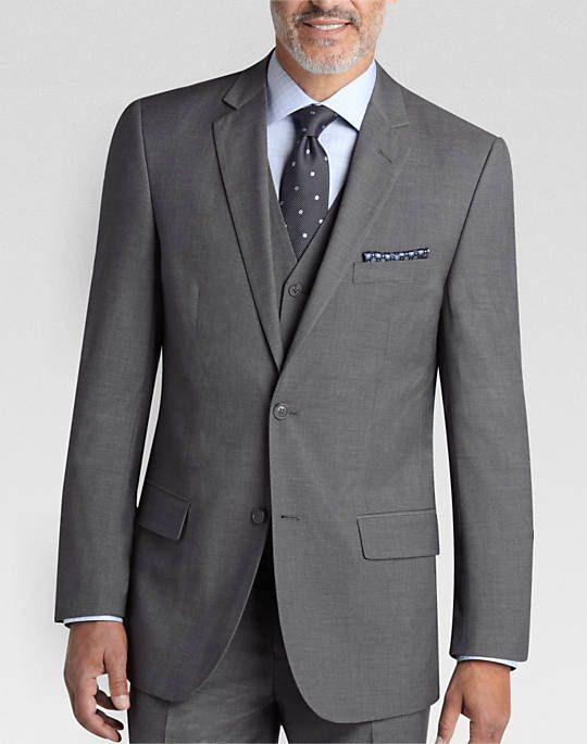 Pronto Uomo Gray Vested Modern Fit Suit - Modern Fit   Men's Wearhouse
