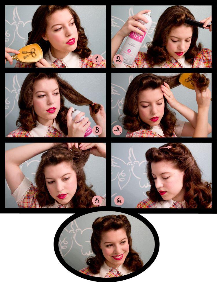 """'40s """"victory curls"""" hair tutorial"""