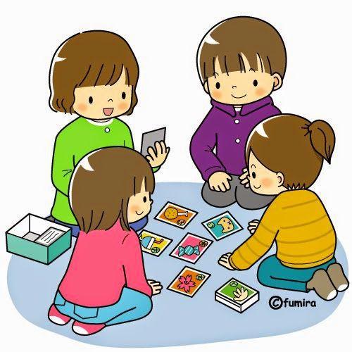 Ni os animados jugando cartas buscar con google - Ninos en clase dibujo ...
