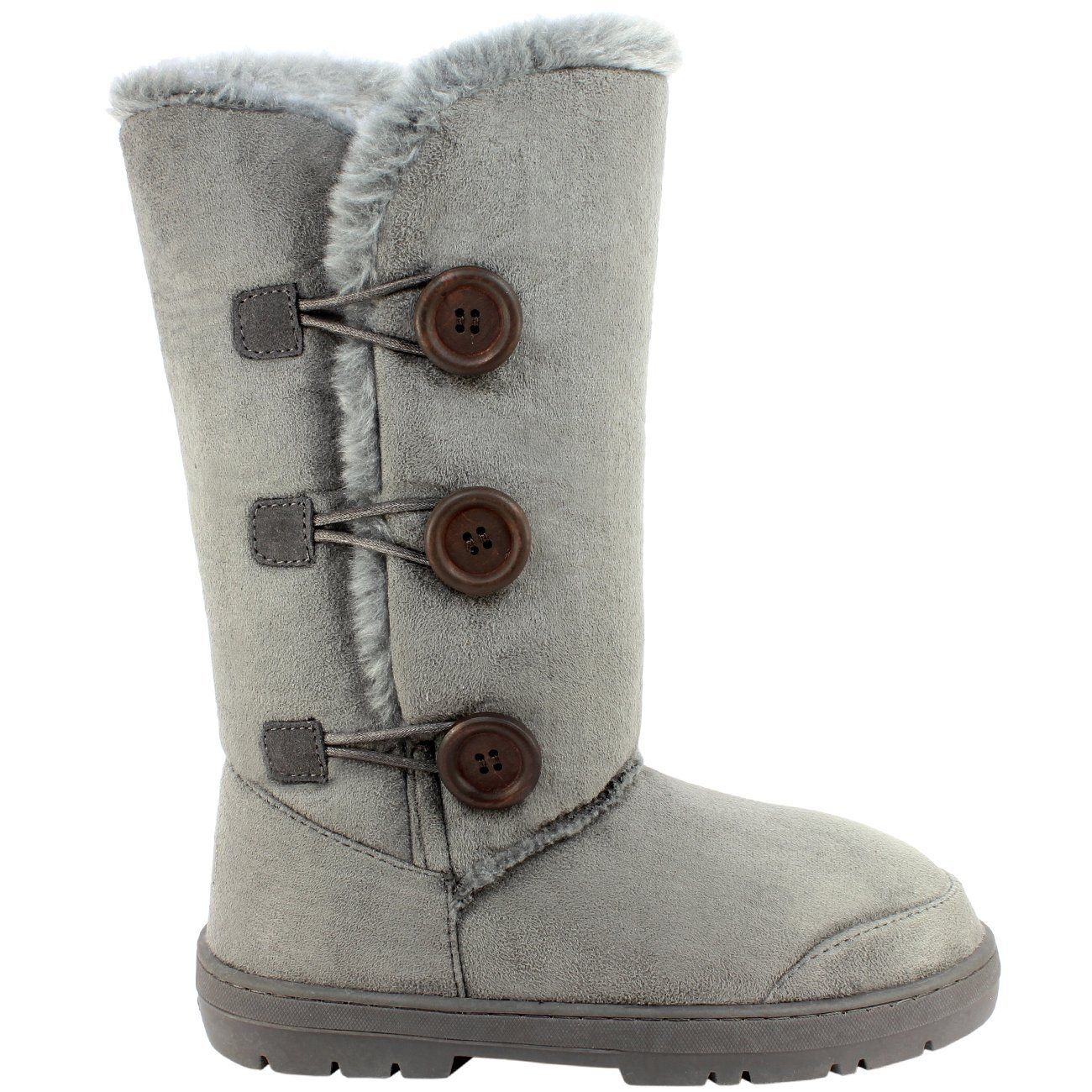 79cc0d1531f Womens-Lined-Button-Thick-Boots Womens Tall Fur Lined Button Thick ...