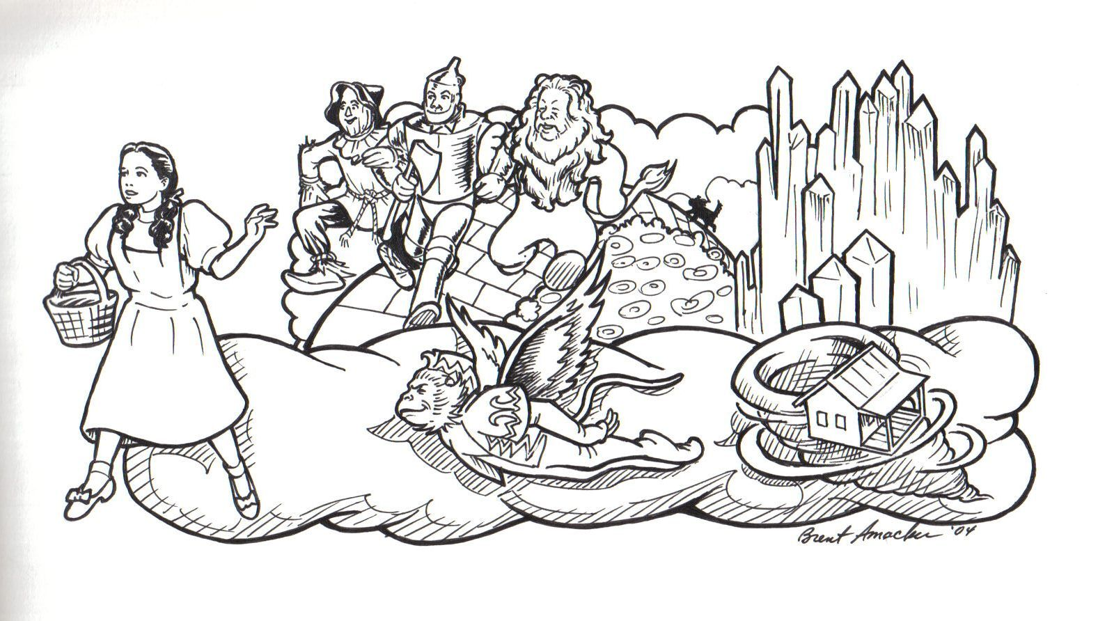 Dorothy From The Wizard Of Oz Coloring Pages Wizard Of Oz