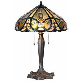 LumiLamp 5LL-5299 Stehlampe Tischlampe Tiffany-Stil OHNE...