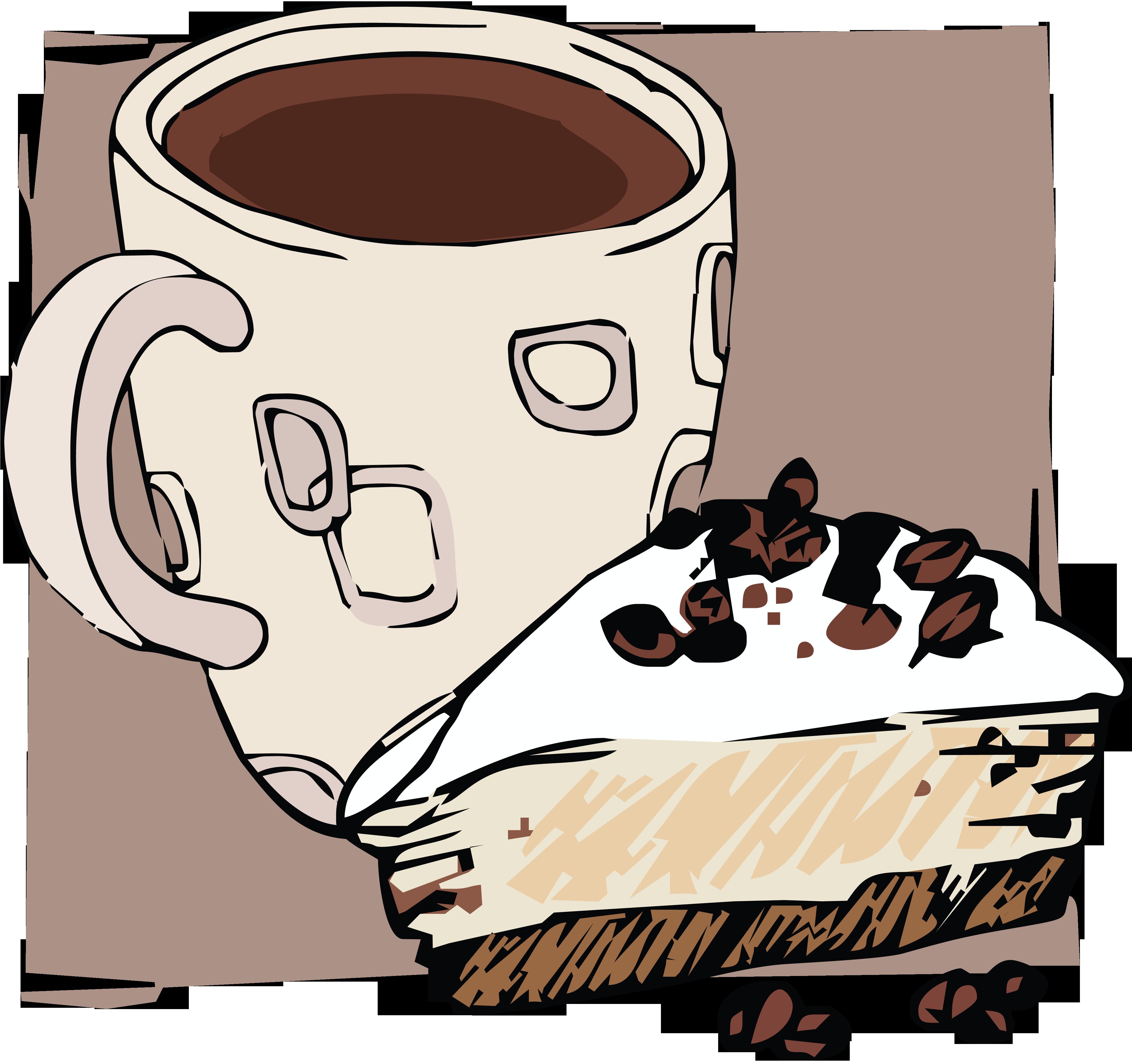 Новым годом, рисунок с кофейной чашкой
