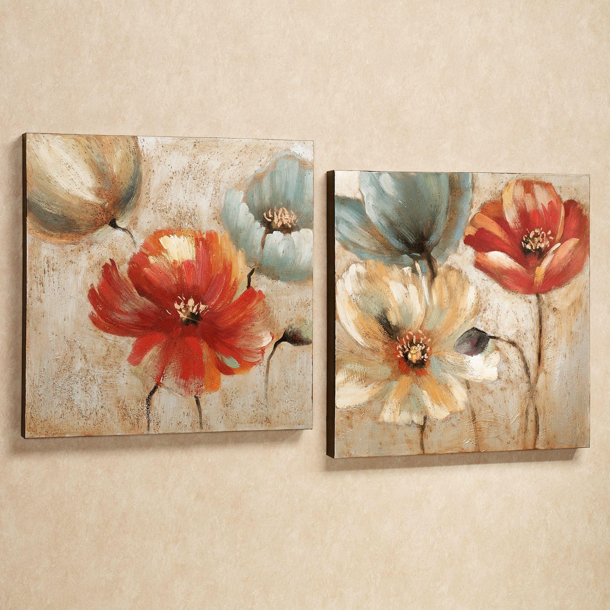 Liven Your Walls Paintings Tierra Este: Joyful Garden Floral Canvas Wall Art Set Em 2019