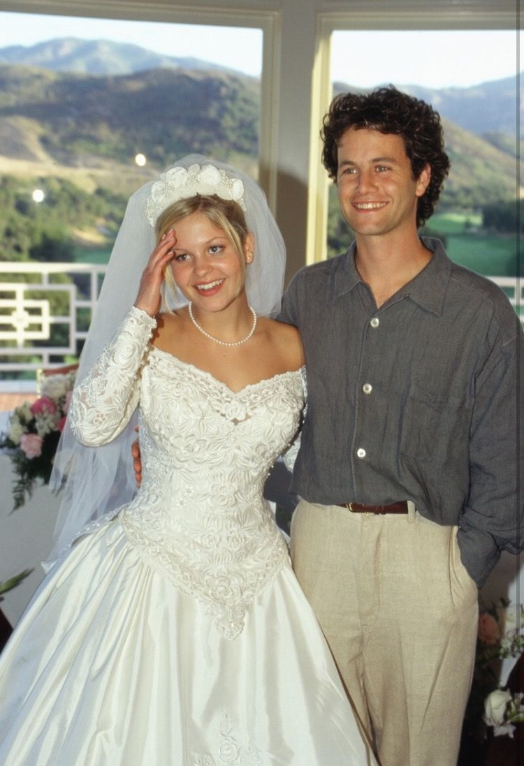 Kirk Cameron At Candace Cameron S Wedding In 1996 Dj Tanner Full House Tv Show Kirk Cameron