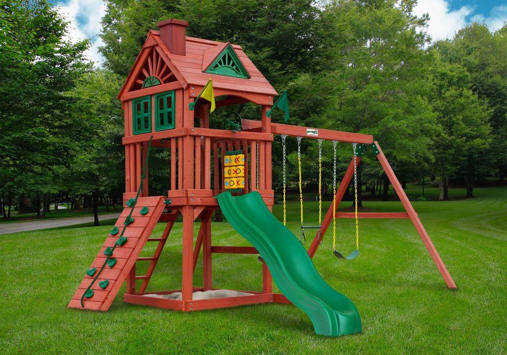 Details About Gorilla Playset Nantucket Cedar Wooden Swing Set