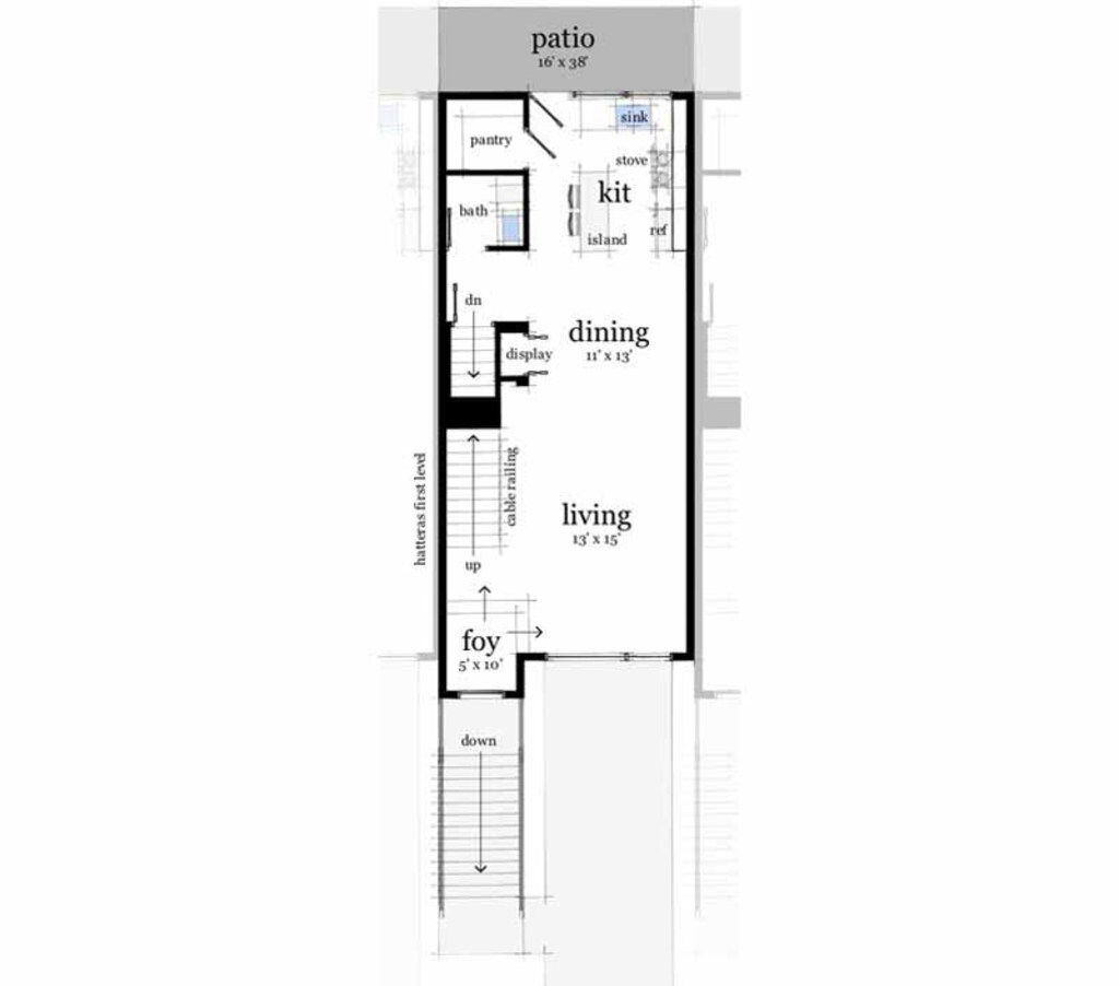 Modern Style House Plan 3 Beds 2 5 Baths 1900 Sq Ft Plan 535 12 Floor Plan Design Row House Design Modern Style House Plans