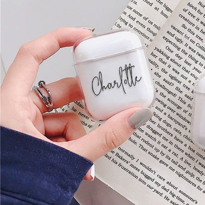 Custom Airpod Case Clear Airpods Pro With Keychain Protective Etsy Airpod Case Cute Ipod Cases Apple Cases