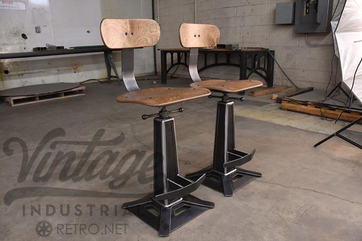 Metropolitan bar chairs by vintage industrial furniture design