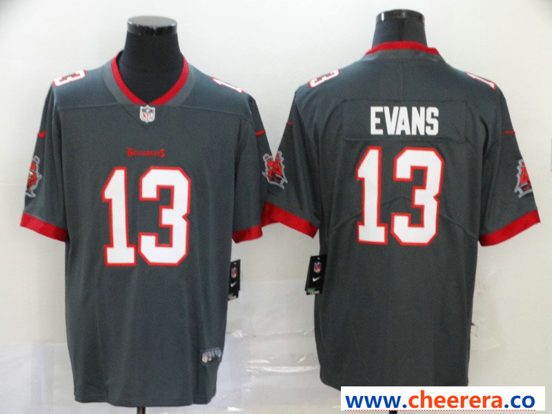 Nike Men S Tampa Bay Buccaneers 13 Mike Evans Gray New 2020 Vapor Untouchable Limited Jersey