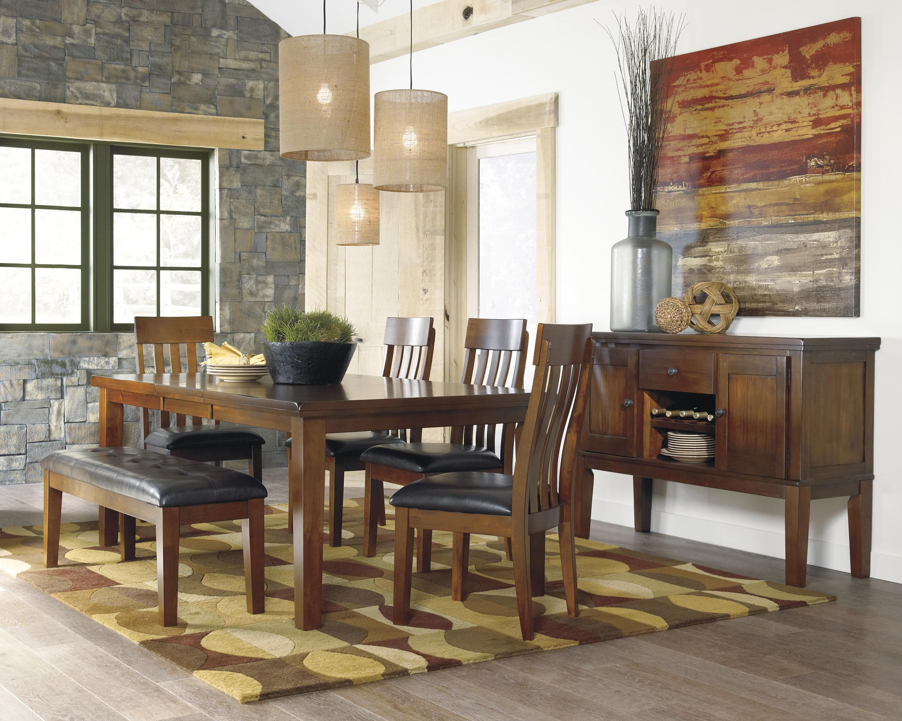 Ralene Casual Dining Room Groupsignature Designashley New Wooden Bench For Dining Room Table Design Ideas