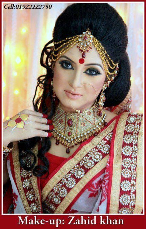 Bengali Saree Stylewedding Ai Buro Bhatzahid Khan Make Up In