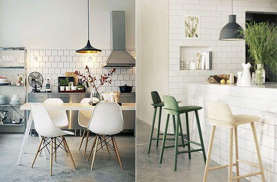 Azulejos color blanco para tu cocina Azulejos blancos, Cocina