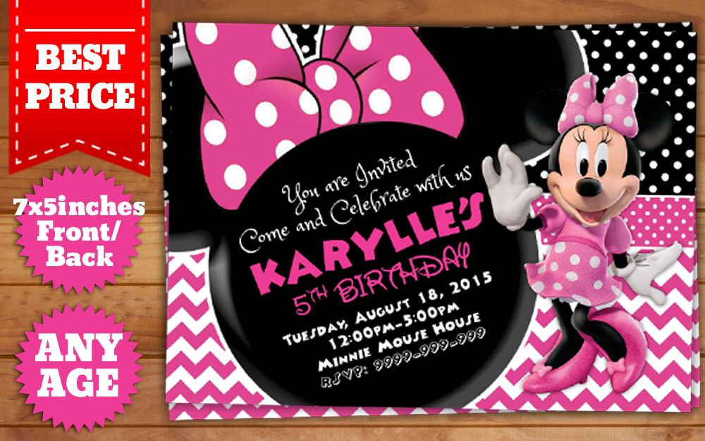 This instant downloadable is for a minnie mouse birthday invitation this instant downloadable is for a minnie mouse birthday invitation template in photoshop psd filmwisefo