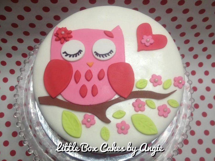 owl decorated cakes   Owl Cake - by LittleBoxCakebyAngie @ CakesDecor.com - cake decorating ...