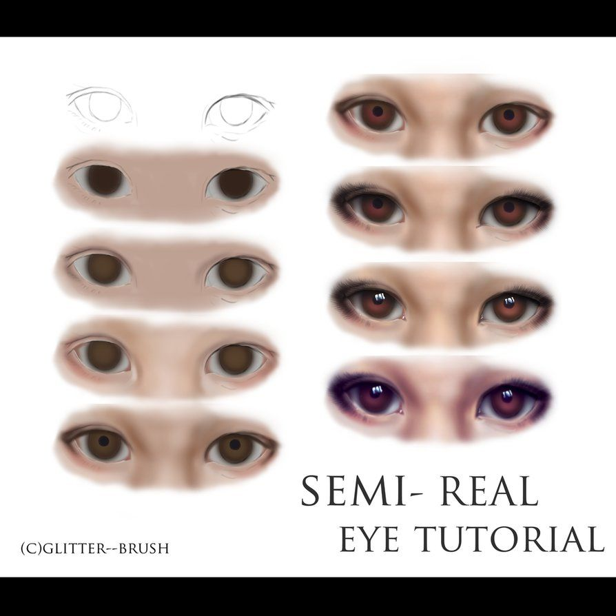 semi realistic anime eye by glitter brush on deviantart tutorial