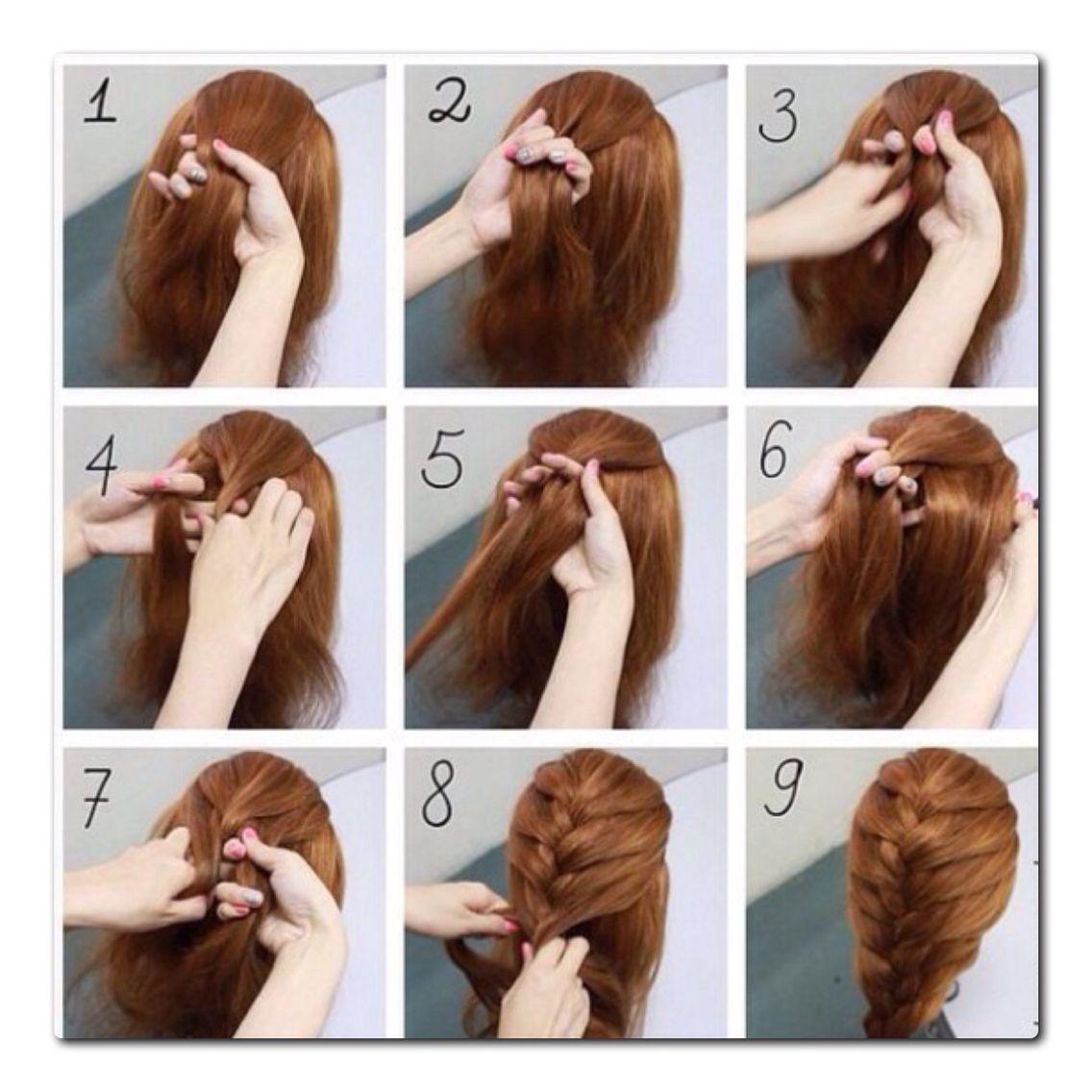 French Braid Step By Step Easy Hairstyles Braided Hairstyles Easy Braids Step By Step