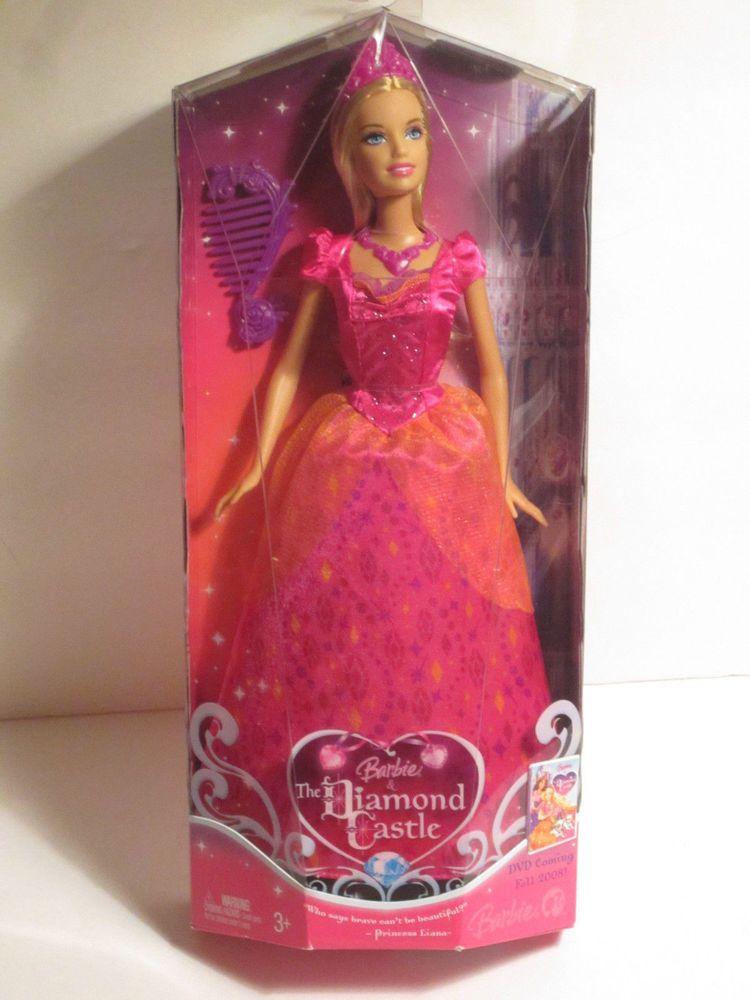 Nib Barbie Doll 2008 Diamond Castle Princess Liana Doll Mattel