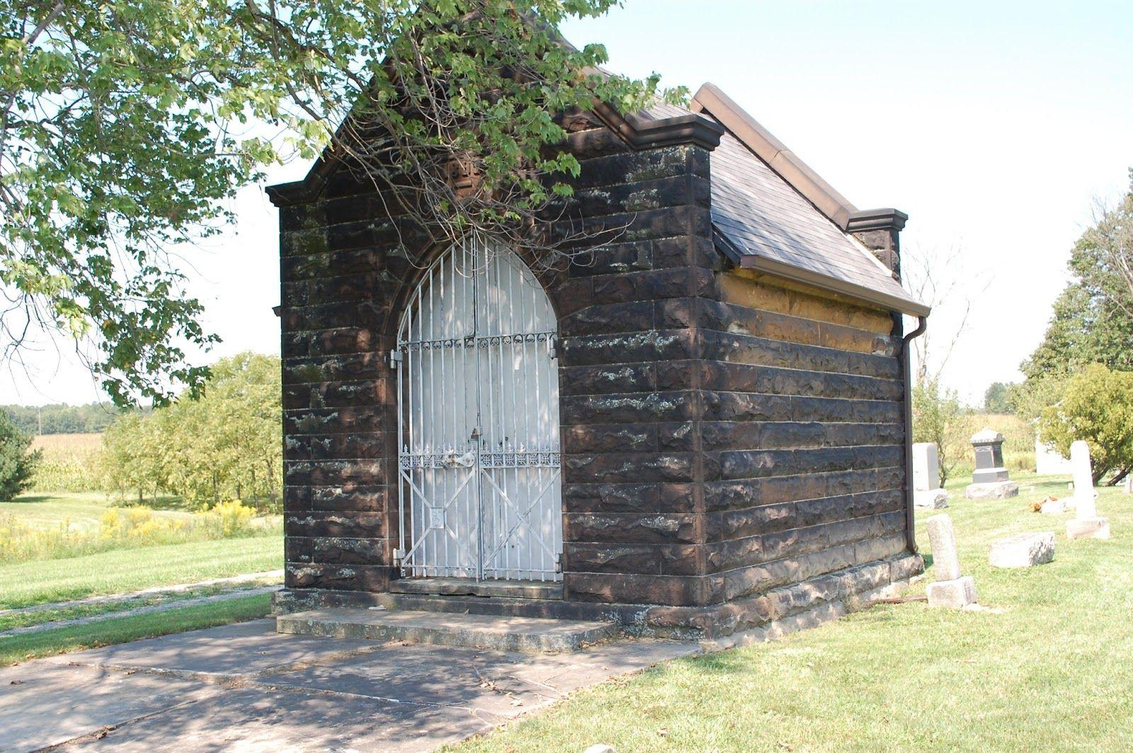 Receiving vault at Deerfield Cemetery, Deerfield, Ohio. In