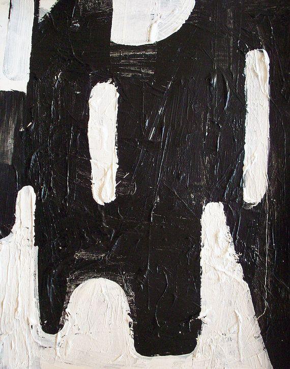 Abstract painting modern black and white art minimalist for Minimal art resumen