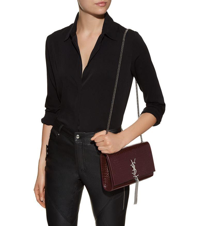 1a9bc92a570 Accessories: Shoulder Bags Saint Laurent Medium Kate Monogram Tassel Bag