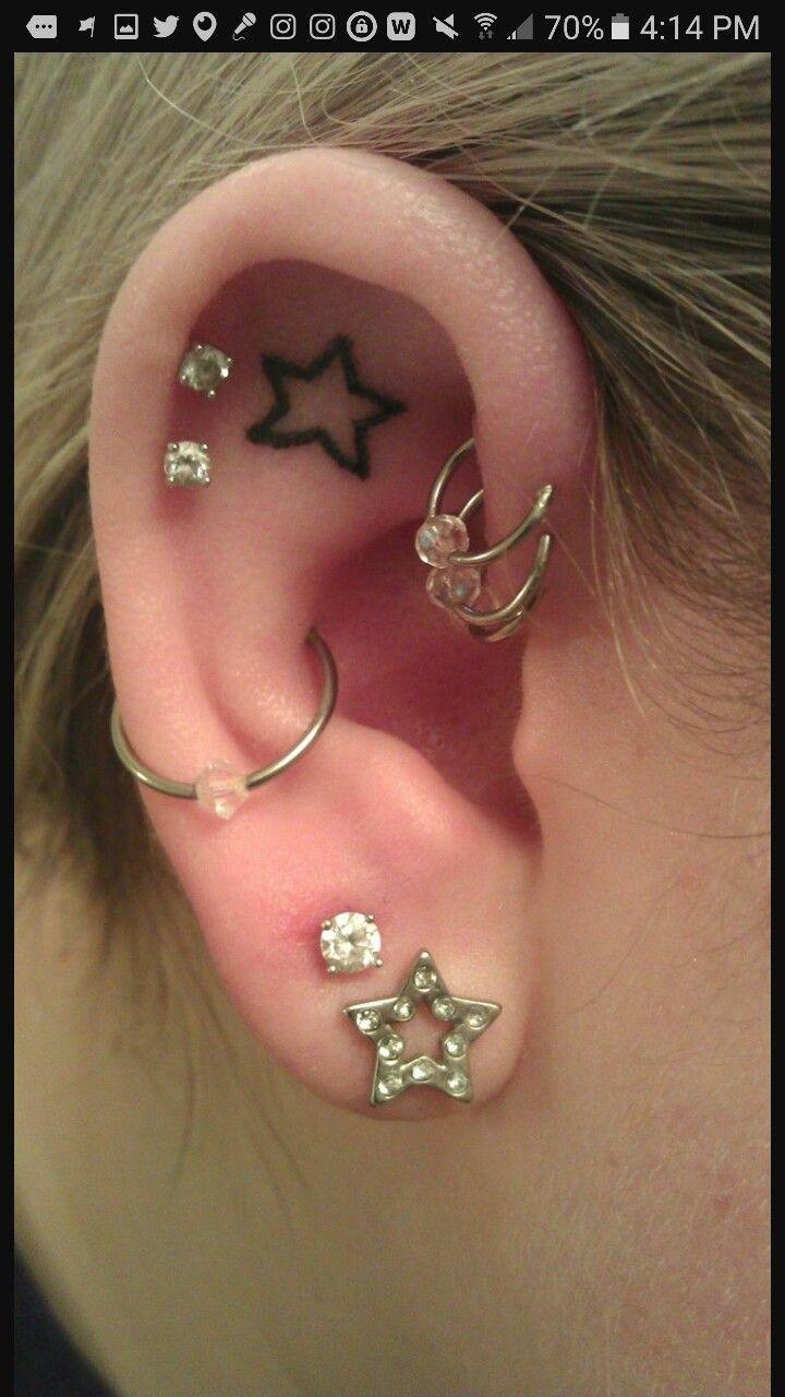 Ear lobe piercing names  Pin by Mikah on Random  Pinterest  Random