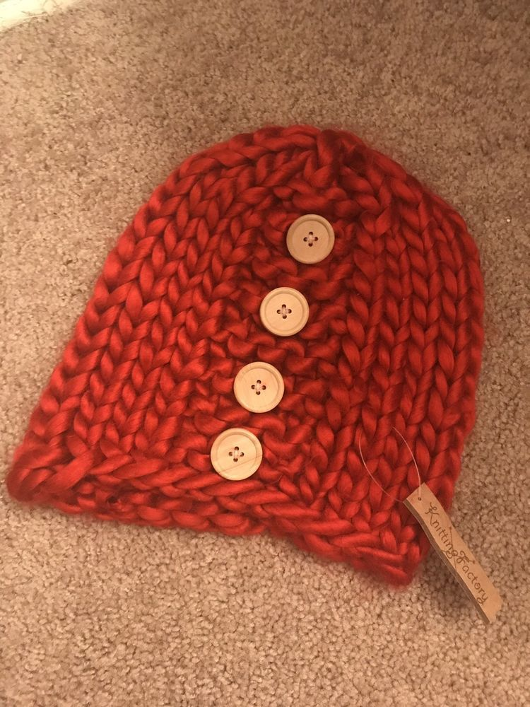 100% AUTHENTIC KNITTING FACTORY WOMENS WOOL HAT RED  fashion  clothing   shoes  accessories  womensaccessories  hats (ebay link) f06ba5e8d643