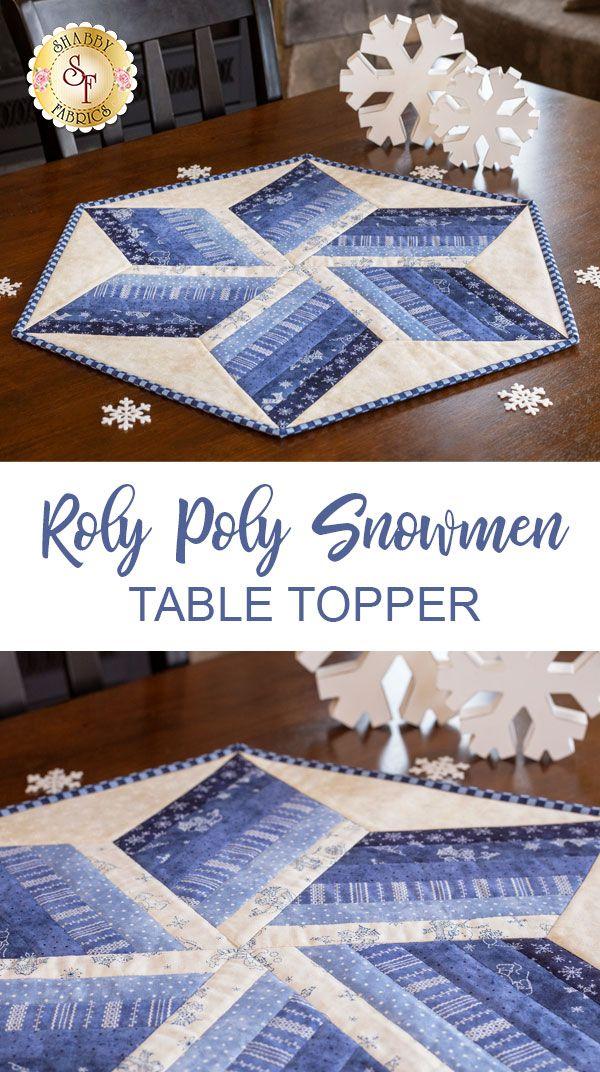 Roly Poly Snowmen Table Topper Kit