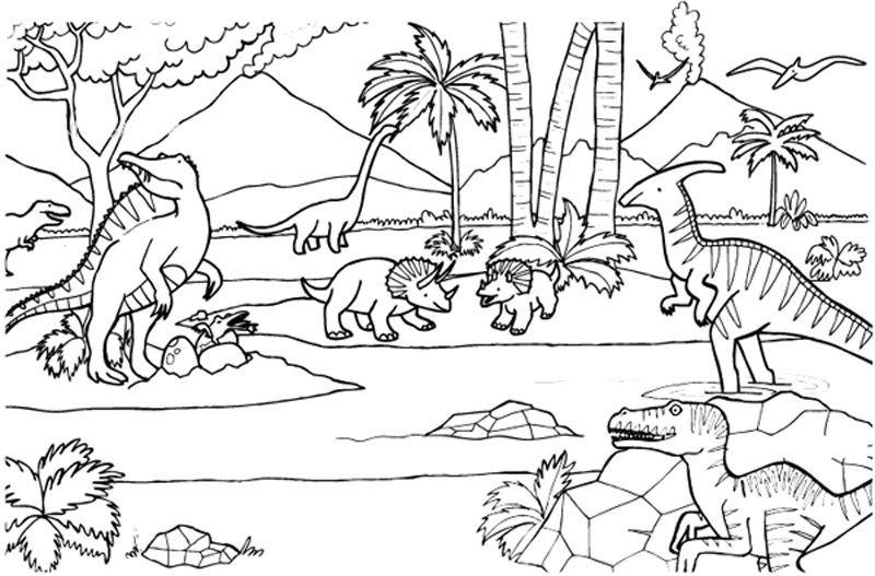 Dinosaurios Dibujo Para Colorear E Imprimir Dibujo De