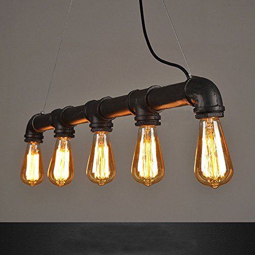 99 99 winsoon industrial steampunk lamp iron pipe ceiling island fixture pendant light vintage retro black