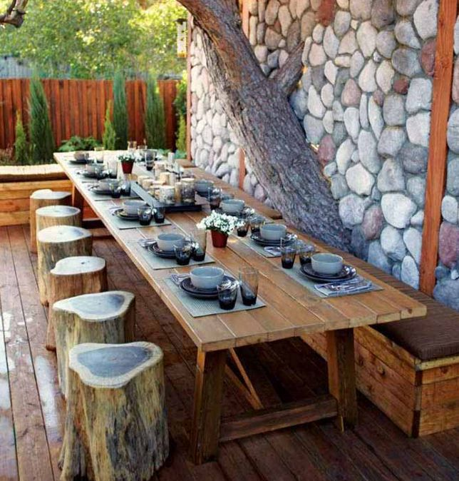 Concept outdoor dining