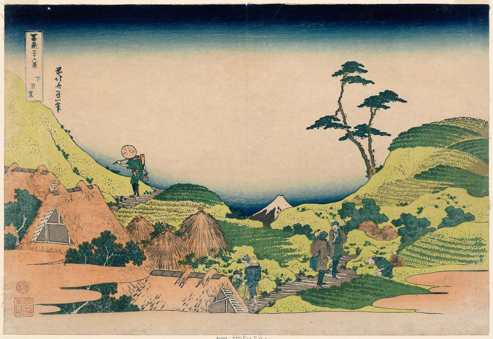 Lower Meguro Shimo Meguro From The Series Thirty Six Views Of Mount Fuji Fugaku Sanjûrokkei Katsushika Hokusai Landscape Prints Japan Landscape