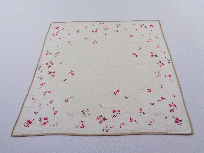 Nina Ricci Handkerchief Vintage Nina Ricci Hanky Handkerchief Nina Ricci Pocket Square Scarf