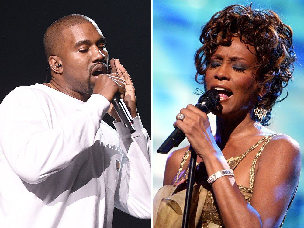 Whitney Houston S Cousin Calls Kanye West Disgusting For Using Her Bathroom Drug Photo On Album Cover Greatest Entertainment Group Whitney Houston Kanye West Album Covers