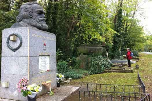 The world's most famous resting places: Karl Marx's resting place, Highgate Cemetery, London. Image by Feeling My Age