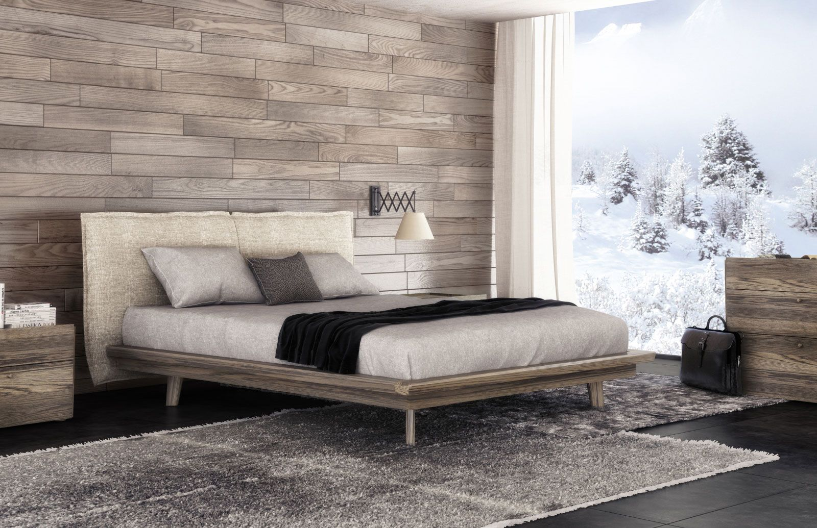 Superior Collection Motionhuppe Furniture. Modern Walnut Finish