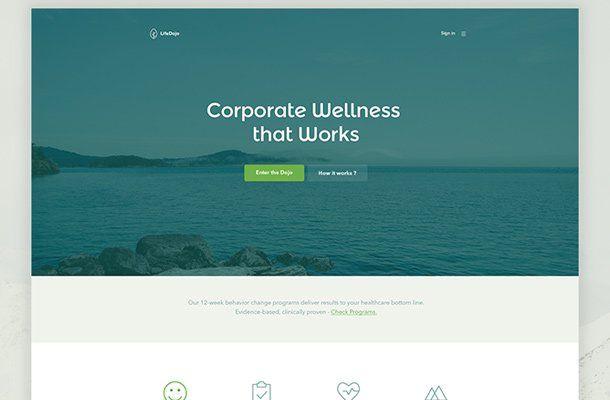 32 Examples Of Clean Flat Web Design Mockups Web Design Mockup Web Design Flat Web Design