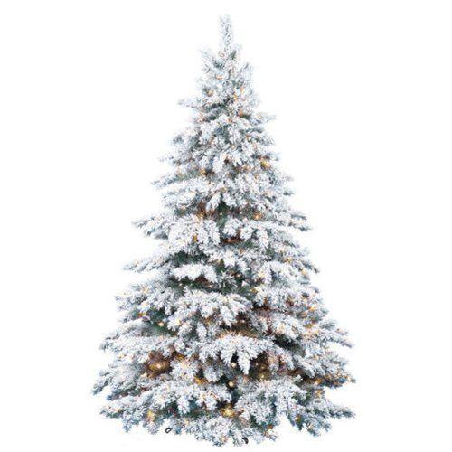 8 Ft Flocked Christmas Tree: Flocked Silver Tip
