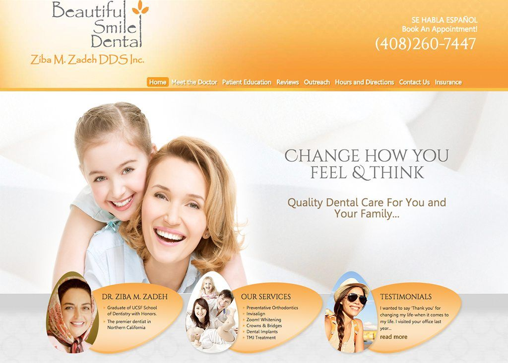 Specialty General Dentist Color Theme Orange Style Full Width