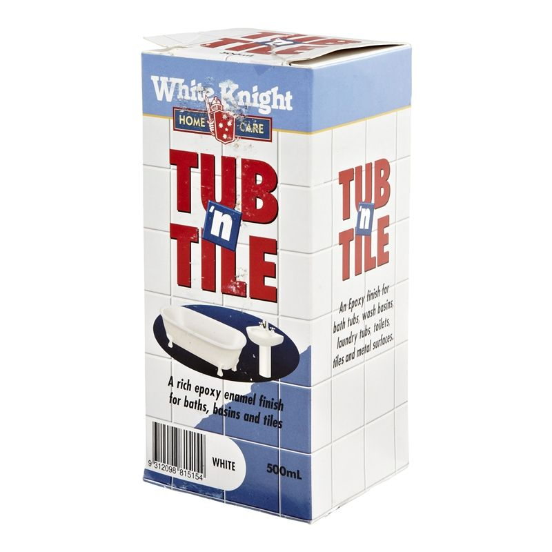 white knight 500ml tub tile paint bath new. Black Bedroom Furniture Sets. Home Design Ideas