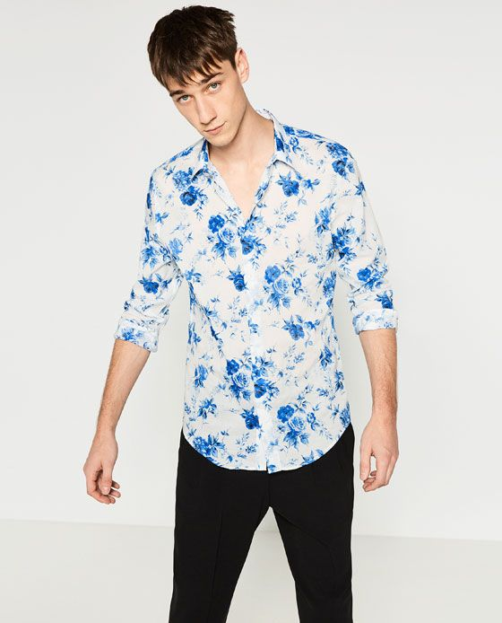 b9788c2e ZARA - MAN - PRINTED SHIRT | Ice Shirt | Printed shirts, Shirts y ...