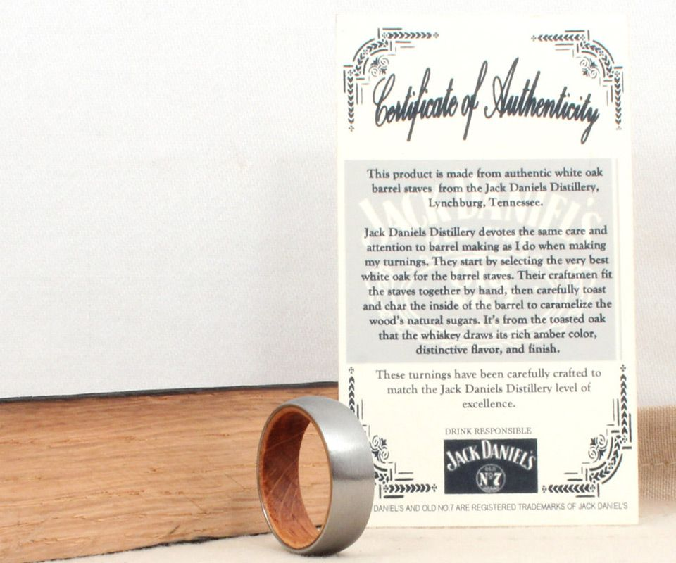 Titanium Jack Daniels Barrel Ring Jack daniels barrel Jack