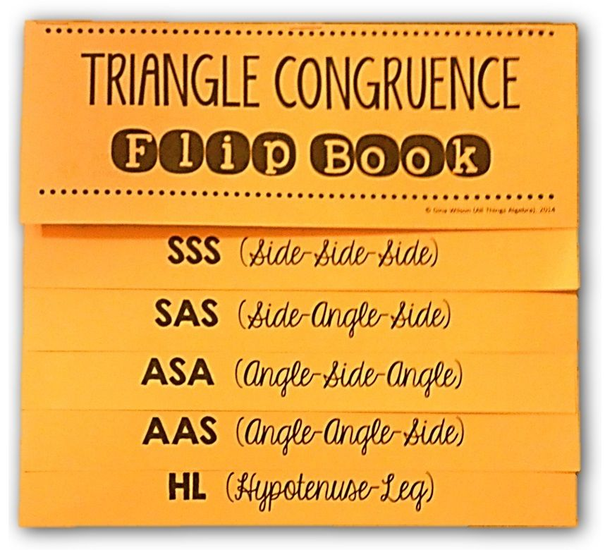 Triangle Congruence Flip Book () Teaching geometry
